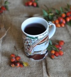 Traditional rose hip tea
